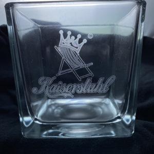 Teelichtglas mit persönlicher Laser-Gravur