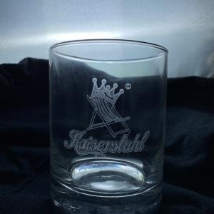 Glas mit individueller Laser-Gravur